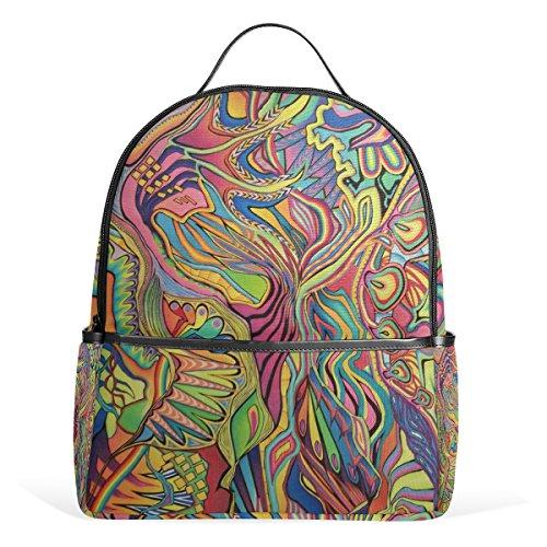 COOSUN Buntstift Und Marker Abstrakte Zeichnung Schule Rucksäcke Bookbags für Jungen Mädchen...