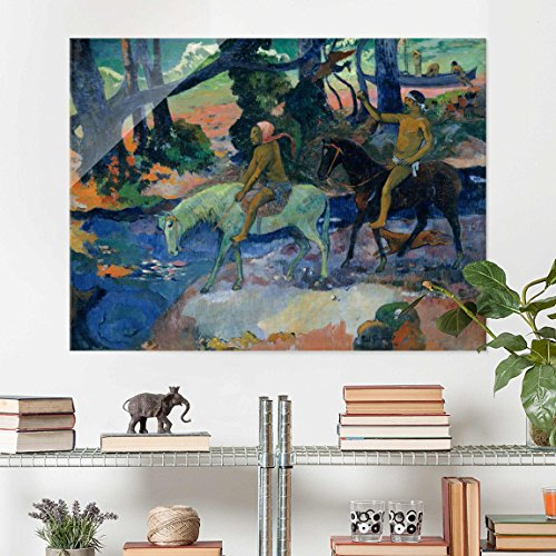 print-on-glass-paul-gauguin-escape-the-ford-post-impressionism-glass-wall-art-landscape-format-34-pr