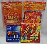 Happy Birthday Mega-Party-Set, 190-teilig, Geburtstagsparty, Partyfans