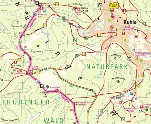 rennsteig-hoerschel-blankenstein-leporello-wanderkarte-mit-ausflugszielen-einkehr-freizeittipps-wetterfest-reissfest-abwischbar-gps-genau-125000-leporello-wanderkarte-lep-wk-2
