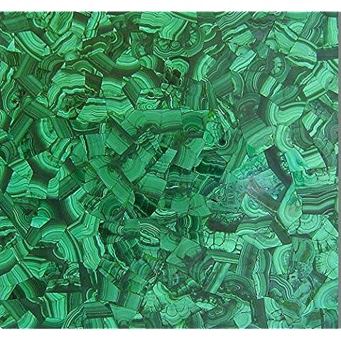 48Grreen malachite Mosiac Art tavolo da pranzo Tavolino Divano Casa Mobili di forma quadrata marmo tavolo