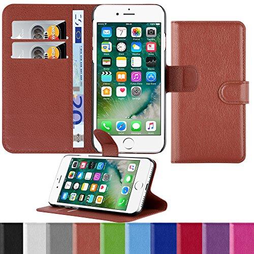HANDYPELLE® PREMIUM Tasche für Apple iPhone 7 und 8 (4,7 Zoll / 11,9 cm) Bookstyle in Grün Braun