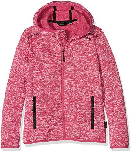 Disegna ragazza giacca in pile giacca, Bambina, Fleecejacke, Magenta-Bianco, 128