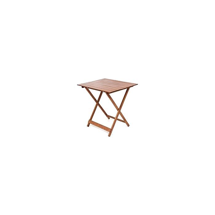 Tavolo legno pieghevole 60 x 80 regolabile in altezza colore noce frasm B075JRBDPK
