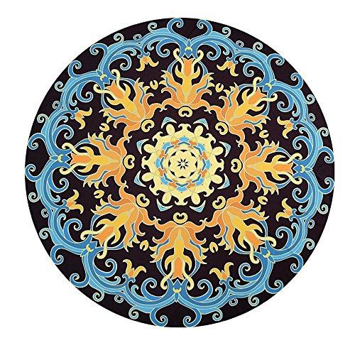 Kaxima Tapis Tapis soleil fleur nationale du vent serviette circulaire plage châle plage plage vacances pique-nique plage coussin 150x150cm