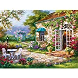 Image for board game Puzzle House Wooden Jigsaw Puzzle, The Cottage Yard, 500/1000 Pieces Puzzles Game Toys For Adults & Kids, Decorative Painting 504 (Size : 500pc)
