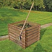 Holzkomposter 90 x 90 cm mit Holz-Stecksystem von Gartenpirat®