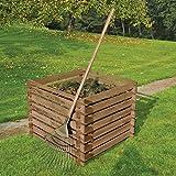 Composteur en bois 90 x 90 cm 380 litres