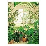 IDEALDECOR Fototapete Wintergarden, 4-teilig, 183x254 cm grün
