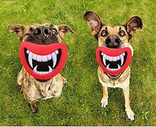 hosaire Funny Pet Hund Zähne Silikon Spielzeug Puppy Chew Sound Neuheit Hunde Spielen Spielzeug