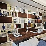 HANMERO® Papel pintado autoadhesivo imitación madera para muebles vinilos pegatinas de pared para Cocina / mesa/ escritorio / puerta/armario, color marrón