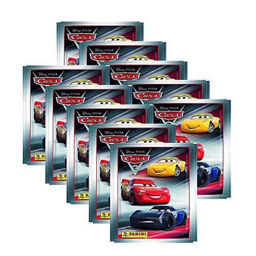 Cars 3 Evolution Panini Movie - 10 Booster (50 Stickers)