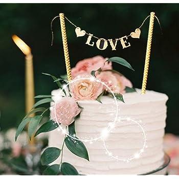 Love Hochzeitstorte Topper Wedding Kuchendekoration Cake Toppers