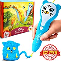 MeDoozy Pluma 3D - Regalos geniales para niños y niñas de cumpleaños - Juguetes ideales para niños y adolescentes - Juego de manualidades de chicas y chicos - Las mejores plumas de impresión (Azul)