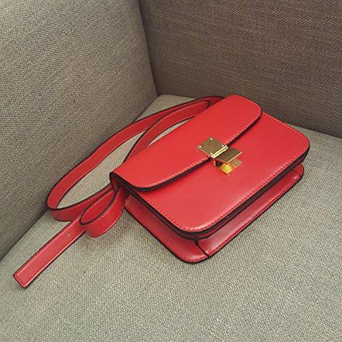 mode weiblichen Retro steward mädchen Tofu kleine quadratische tasche Schulter messenger bag Rot