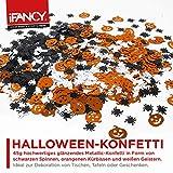 Halloween XXL Konfetti-Mix - viel glänzendes Metallic Konfetti mit Geist, Spinne & Kürbis - ideale Tisch-Deko & Party-Dekoration für Gruselige Halloween-Partys - 4