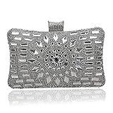 Sac de soirée en Perles de Cristal pour Femme,Bourse d'embrayage Sac de soirée Diamant pour Le Mariage Sac de soirée de soirée de Bal-D 6x12x20cm(2x5x8inch)