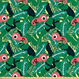 ABAKUHAUS Insel Stoff als Meterware, Tropische Chamäleons,
