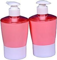 QuickShel Liquid soap Dispenser Made of BPA Free Plastic (Set of Positive Colors) (2, Fire Red)