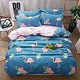 Die besten Gemütliche Bettwäsche Tröster Sets - Flamingo Bettbezug Set,Morbuy 4tlg. Einfache Bettwäsche Set 200 Bewertungen