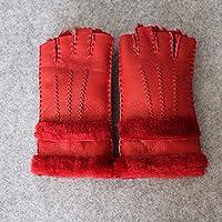 ZHGI Guanti mezze dita in pelle, guanti