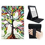 WALNEW Vertikale Flip Hülle für Kindle Paperwhite Magnetische Auto Sleep/Wake Funktion, Cover mit Handriemen Amazon Kindle Paperwhite