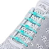 Hickies Cordones Elásticos No-Tie 2.0 Performance - Verde (14 Unidades, Funciona con todas las zapatillas)