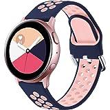 Vobafe Correa Compatible con Samsung Galaxy Watch Active/Active2 Correa 40mm/44mm, Correa Deportiva Reemplazo de Silicona Sua
