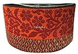 #8: 9mtr saree lace border trim applique brocade jaquard red orange embroidery gold used for Women Saree Dress Dupatta