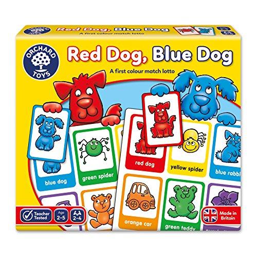 Orchard toys gioco da tavola red dog, blue dog, 2-5 anni [lingua inglese]