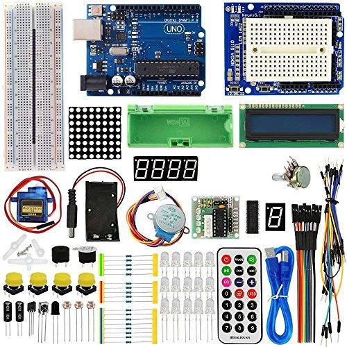 ViewTek KT0001 - Conjunto Avanzado de Iniciación a Arduino - Advanced Starter Kit - con tarjeta UNO R3 y servomotor y tutoriales y Guías