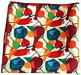 Urban Diseno Men's Polyester Pocket Square (Multicolor)
