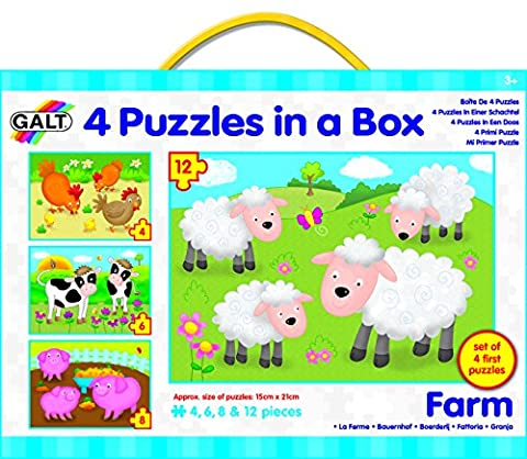 Galt Toys Puzzles in a Box Farm - Pack of