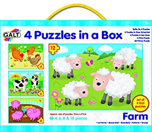 Galt Toys Puzzles in a Box Farm - Pack of 4