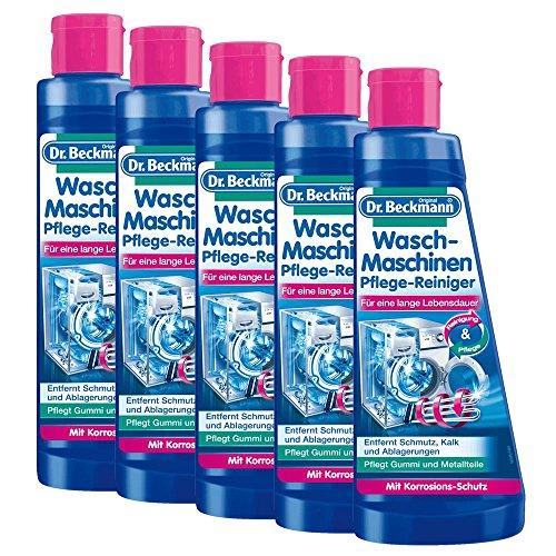 5x Dr. Beckmann Waschmaschinen Pflege-Reiniger 250 ml - Mit Korrosions-Schutz
