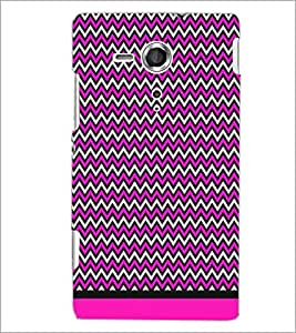 PrintDhaba Zig Zag Pattern D-1700 Back Case Cover for SONY XPERIA SP (Multi-Coloured)