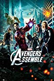 Posters: The Avengers Poster - Superheroes Assemble, Marvel Studios One Sheet (36 x 24 inches)
