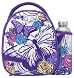 Smash Skitter Butterfly Insulated Lunch Bag And Bottle, Purple, 500 ml