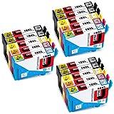 JETSIR Ersetzt für Epson 18XL 18 T1811 T1812 T1813 T1814 Druckerpatronen Kompatibel mit Epson Expression Home XP-322 XP-422 XP-225 XP-305 XP-412 XP-405 XP-212 XP-215 XP-415 XP-425 XP-315 (6 Schwarz,3 Cyan,3 Magenta,3 Gelb)