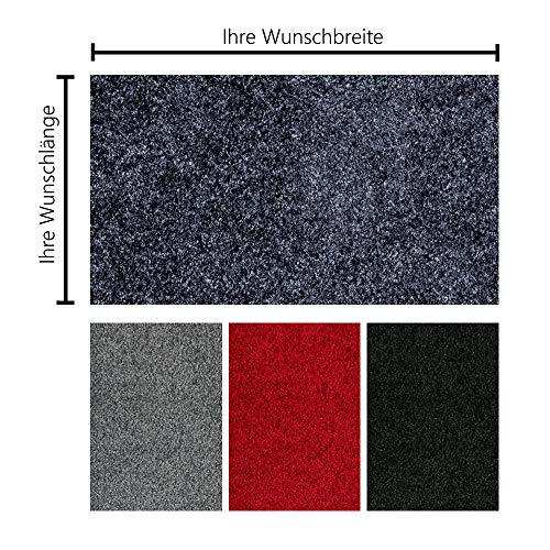 Schmutzfangmatte PT-max Uni nach Maß | Fußmatte in Wunschmaß | individuelle Größe | 60-115 cm...