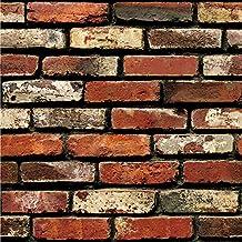 3D Papel de pared Ladrillo Piedra Efecto rústico Etiqueta de la pared autoadhesiva Decoración para el