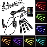 Possbay 12V 36 LED Car Interior Lights Floor Neon Atmosphere Lamp Decoration Colorful With Sound-activated Music Control