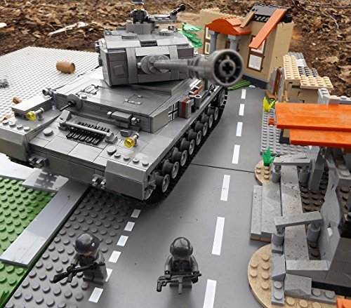 Modbrix 8210 – ✠ Bausteine Panzer IV Ausf. F, 1000 Teile, inkl. custom Wehrmacht Soldaten aus original Lego© Teilen ✠ - 3