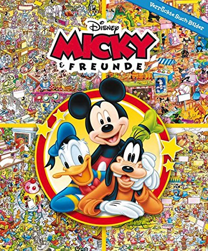 Micky & Freunde - Verrückte Such-Bilder, Hardcover-Wimmelbuch