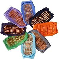 Calzini Presa Antiscivolo, 8 paia bambino calzini antiscivolo per bambini, cotone con polsini Calzini caldi antiscivolo…