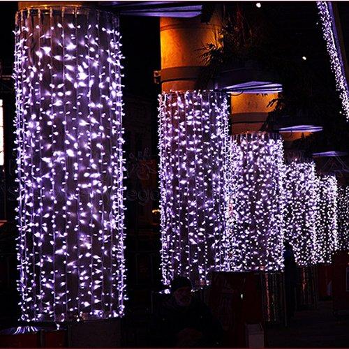 Foxnovo® 220V 8 Modus LED String Lights LED Strip Holiday Lights dekorative Lampen für Hochzeit Weihnachtsfeier (10M 100 LED-Licht, Lila)