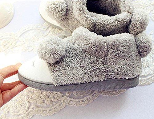 DMMSS Warm Peluche Delle Donne Delicatamente Solo Indoor Slipper Morbida Sole Casa Pantofole 36-37