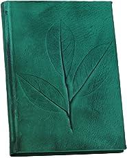 Notizbuch Tagebuch aus echtem Leder Büro Planning Schreiben Handwerk Blätter 14x 21Block Notes grün