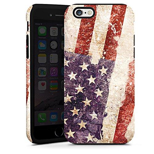 Apple iPhone 4 Housse Étui Silicone Coque Protection États-Unis d'Amérique Amérique États-Unis Drapeau Cas Tough terne