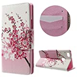 jbTec® Flip Case Handy-Hülle Book #N02 Mehrfarbig zu Huawei P9 Lite - Handy-Tasche Schutz-Hülle Cover Handyhülle Bookstyle Booklet, Motiv/Muster:Kirschblüten B15, Modell:Huawei P9 Lite/Dual SIM